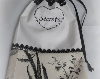 clutch bag embroidered lingerie or other