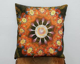 Black and Orange Pillow Case Colour Waves Cushion Covers