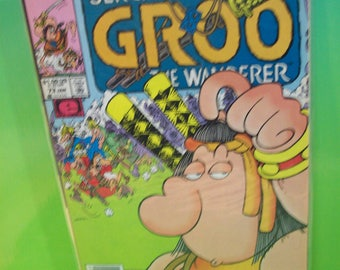 Groo The Wanderer #73 Sergio Aragone's Comic Book of Humorous Adventures Of Mighty Warrior Groo Vintage Comic Book 1991 Good VG Cond Creases