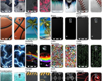 Choose Any 2 Designs - Vinyl Skins / Decals / Stickers for Samsung Galaxy S5 - Android Smartphone