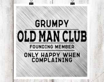 Grumpy Old Man SVG/DXF/EPS File