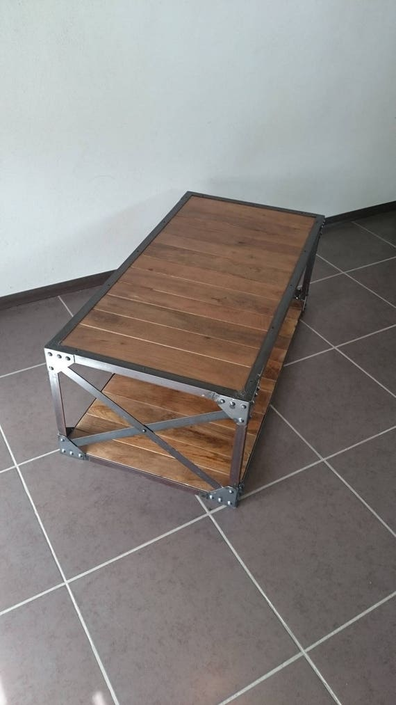 Table basse industrielle for Table basse industrielle