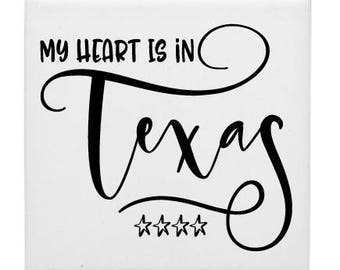 My Heart is In Texas Coasters