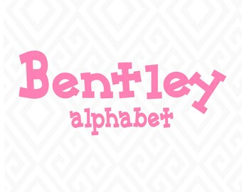 Bentley Alphabet Files SVG, DXF. AI, Pdf, Eps  Cutting Files for Electronic Cutting Machines