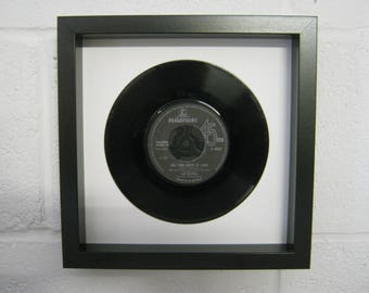 """The Beatles """"All You Need Is Love"""" Special Unique Wall Framed 7"""" Vinyl Record Gift/Present"""