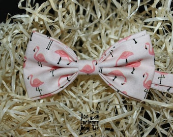 Pink Flamingo Bow Tie,Wedding Bow Tie, Gift for Dad,Men's Bow Tie, Boy's Bow Tie, Bow Tie For Men,Gift for friend, Cretive bow tie