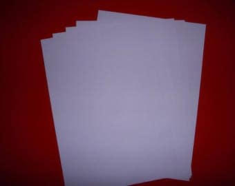 set of 5 purple papers 29.5 x 21 cm