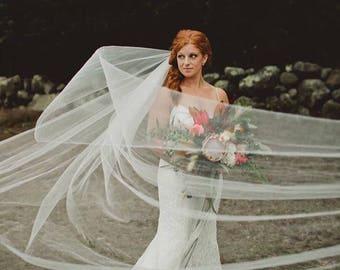 Cathedral Length Handmade Bridal Veil