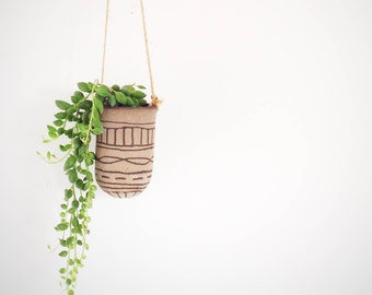 Hanging planter ideal for cacti small plants and secculents Boho chic home decor