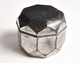 Vintage Geometric Metal Trinket Box