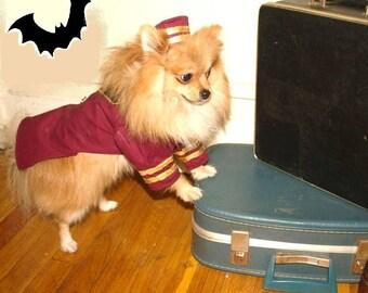 "DOG HALLOWEEN COSTUME , ""bell hop"" Dog Costume, Halloween For Pets,"