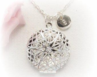 VACATION SALE Silver locket, locket, silver locket,Locket necklace, Locket,Initial necklace, Silver necklace, Sisters Jewellery,Birthday gif