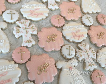 2 dozen baptism communion cookies