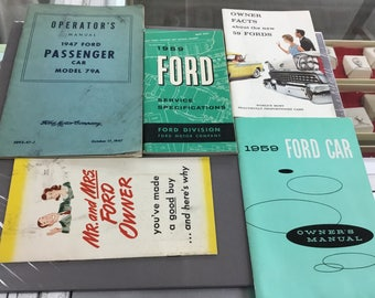 Vintage ford memorabilia from 40's and 50's