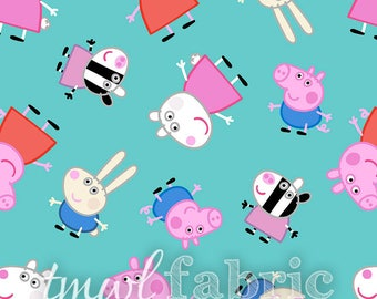 Woven Fabric - Nick Jr. Peppa Pig & Friends - Fat Quarter Yard +