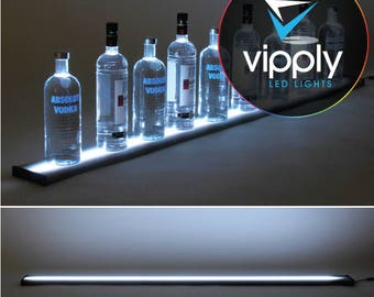"60""  LED Bar Shelf, Bottle Display, Light Shelf, Display Shelf, Liquor Bottle Shelving"