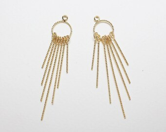 P0788/Anti-tarnished Gold Plating Over Brass/Textured Dangle Bars Pendant/10x50mm/2pcs