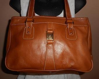 VINTAGE ETIENNE AIGNER Brown Leather Shoulder Bag