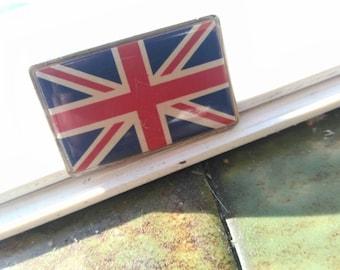 England , flag pin vintage 90s , england .