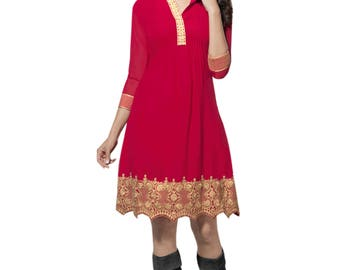 Indian Pakistani Bollywood Designer Kurta Kurti For Women Ethnic Dress Tunic Top
