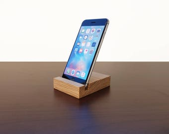 iPhone stand. Wood iPhone stand. Wooden iPhone Stand. Oak iPhone Stand.
