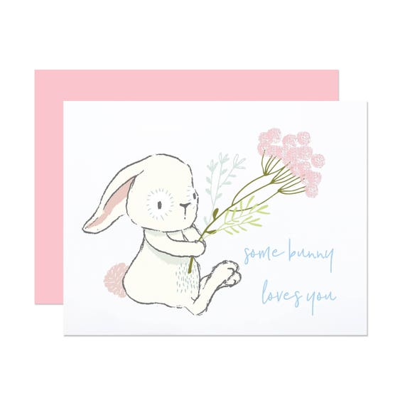 Some Bunny Loves You - Easter Card