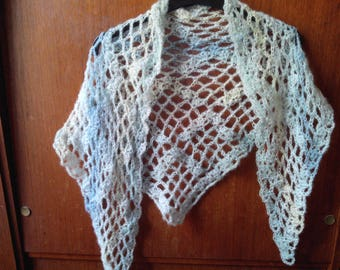 CHEAP - Very soft and airy crochet scarf shawl