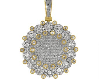 10k Gold And Diamond Sun Pendant With 24 Inch Chain