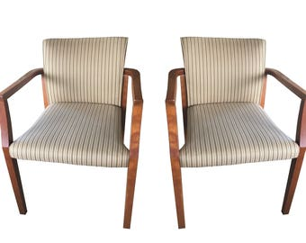 2 Mid-Century Modern arm chairs