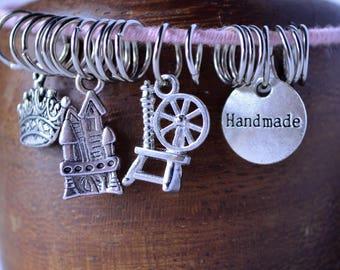 Set of four princess bangles charm bracelets set