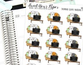 Couch Planner Stickers - TV Planner Stickers - Date Night Stickers - Cat Planner Stickers - Cat Stickers - 1683