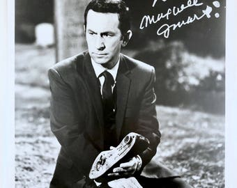 Maxwell Smart Don Adams Signed Picture, Original 8 x 10 Black & White Autographed Vintage Photo, Shoe Phone, Certificate of Authenticity