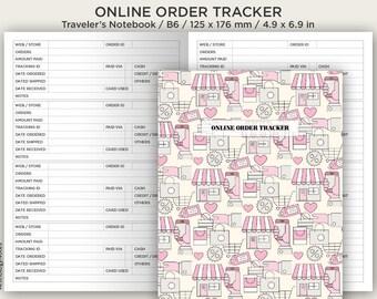 B6 Online Order Tracker - Printable Insert - Traveler's Notebook