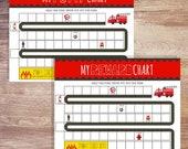 Printable Fire Truck Sticker Potty Chart Sticker Reward Chart| Printable Sign | Toilet Training Schedule | Potty Training | Instant Download