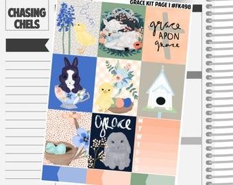 Grace Collection #FK498-504 Premium Matte Planner Stickers