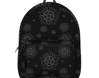 Supernatural White Anti Possession Sigils Backpack