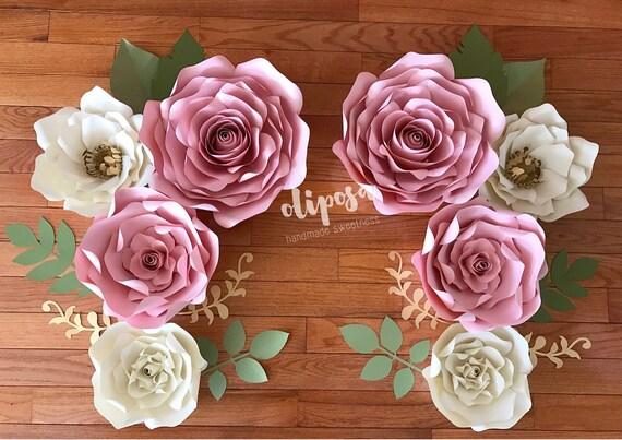 8 pc paper flower wall art paper flowers nursery decor toddler il570xn mightylinksfo
