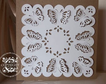 Pretty, Fold-out Butterfly Card Topper