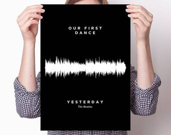 Babys first words poster: Baby sound wave art, baby talk, print, sound wave art, soundwave print, art custom sound wave, new baby gift
