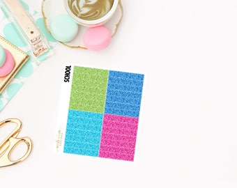 Back to School Glitter Headers, planner stickers