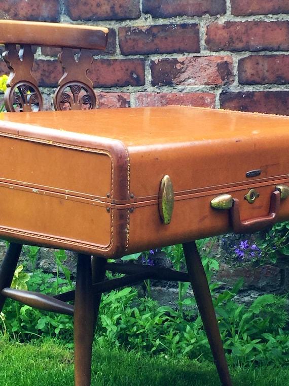 Samsonite Vintage Suitcase | Vintage Luggage | Vintage Home Decor | Vintage Storage Solution | Vintage Tan Cases | Photo Props | Film Prop