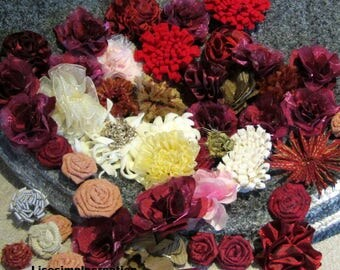 Wedding flowers, Fabric flower, Floral supply, Flower supply, Craft supply, Headband supply,