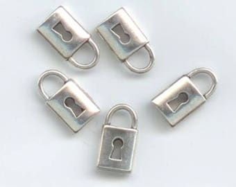 Silver lock charms