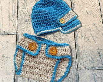Newsboy Hat Set, Newsboy Hat, Crochet Newsboy Hat, Baby Newsboy Hat, Newsboy Hat Baby, Newborn Newsboy Hat, Baby Diaper Cover Set