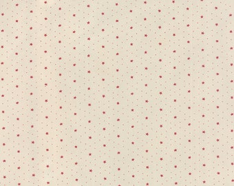 Moda MISS SCARLET Quilt Fabric 1/2 Yard By Minick & Simpson - Stone 14817 12