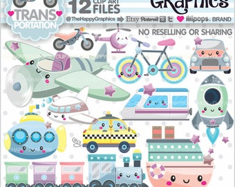 Transportation Clipart, 80%OFF, Transportation Graphics, Commercial Use, Transportation Party, Vehicle Clip Art,