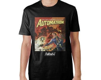 Mens Official Merchandise Fallout Automatron Black T-Shirt