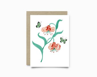 Greeting card - Lilium