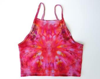Ice-Dyed Women's Halter Tank, S