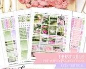 PRINTABLE FULL KIT: Garden Party/Erin Condren Vertical/Printable/Digital/Weekly Kit